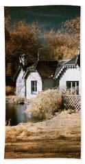 Beach Towel featuring the photograph Duck Island Cottage by Helga Novelli