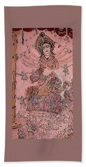 Durga ,the Warrior Goddess Beach Towel
