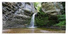 Eagle Cliff Falls In Ny Beach Towel