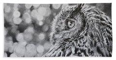 Eagle Owl  Beach Towel