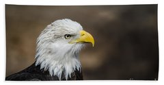 Eagle Profile Beach Towel by Andrea Silies