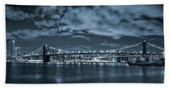 East River View Beach Towel by Az Jackson