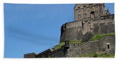 Beach Sheet featuring the photograph Edinburgh Castle by Jeremy Lavender Photography