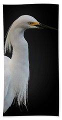 Egret Beach Towel by Cyndy Doty