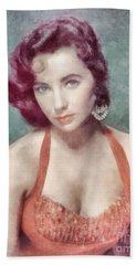 Elizabeth Taylor By John Springfield Beach Towel