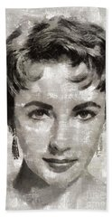 Elizabeth Taylor, Vintage Hollywood Legend Beach Towel
