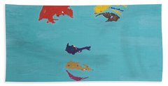 Elvis In The Sky Beach Sheet by Stormm Bradshaw
