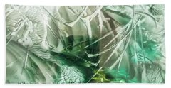 Encaustic Abstract Green Foliage Beach Sheet