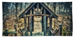Entrance To Seven Bridges - Grant Park - South Milwaukee #3 Beach Sheet by Jennifer Rondinelli Reilly - Fine Art Photography