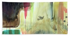 Beach Sheet featuring the painting Envisage by Robin Maria Pedrero