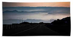 Beach Sheet featuring the photograph Etna Road by Bruno Spagnolo