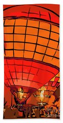 Evening Glow Red And Yellow In Abstract Beach Towel