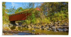 Everett Covered Bridge  Beach Towel