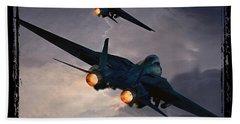 F-14 Flying Iron Beach Towel