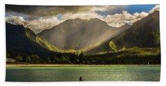 Beach Towel featuring the photograph Facing The Storm by Robert FERD Frank