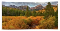 Fall In Rocky Mountain National Park Beach Sheet