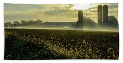 Farm Sunrise #1 Beach Towel
