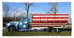 Farm Truck Wading River New York Beach Sheet