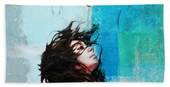 Feathers From Hair  Beach Towel by Gull G