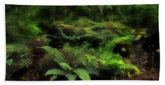 Ferns Of The Forest Beach Towel by Mike Eingle