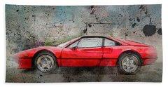 Beach Sheet featuring the photograph Ferrari 308 by Joel Witmeyer