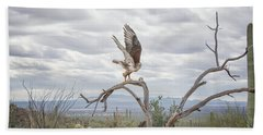 Ferruginous Hawk Beach Towel by Tam Ryan