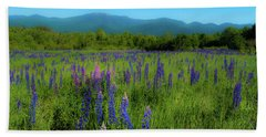 Beach Towel featuring the photograph Field Of Lupines by Brenda Jacobs
