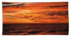 Fire In The Sky Beach Towel