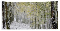 First Snow Fall Beach Towel