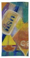Beach Towel featuring the painting Fish Cafe by Susan Stone