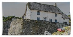 Beach Towel featuring the photograph Fishermans Cottage by Brian Roscorla