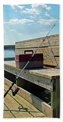 Fishin' Pole Beach Towel