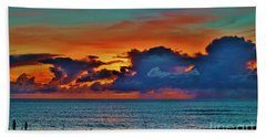 Beach Towel featuring the photograph Fishing At Sunset by Craig Wood
