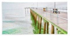 Fishing Pier, Margate, New Jersey Beach Towel