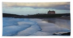Beach Towel featuring the photograph Fistral Beach by Nicholas Burningham
