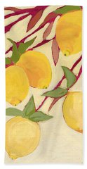 Five Lemons Beach Towel