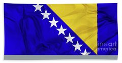 Flag Of Bosnia Beach Towel