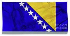 Flag Of Bosnia Beach Sheet