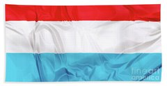 Flag Of Luxembourg Beach Towel