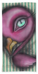 Flamingo Beach Towel by Abril Andrade Griffith