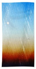 Beach Towel featuring the photograph Flight by Allen Beilschmidt