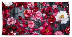 Floating Camelia Blossoms Beach Towel