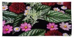 Beach Towel featuring the photograph Floating Flower Bouquet by Byron Varvarigos