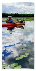 Floating In The Sky Beach Towel