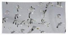 Flock Of Birds  Beach Sheet by Andrea Kollo