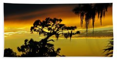 Beach Sheet featuring the photograph Central Florida Sunset by David Lee Thompson
