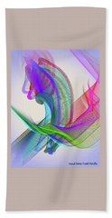Beach Towel featuring the digital art Flower Vase by Visual Artist Frank Bonilla