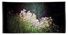 Flowers At Night Beach Towel