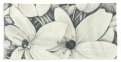 Flowers Pencil Beach Sheet