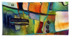 Beach Towel featuring the painting Fluvial  Mosaic by Hailey E Herrera